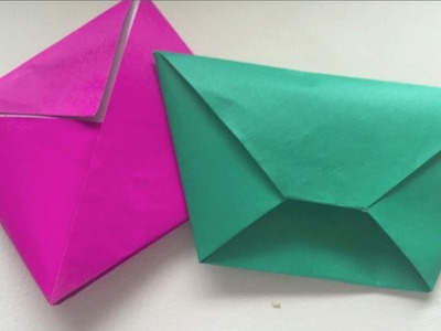 (ORIGAMI) How to make a Square & Trapezoid Envelope