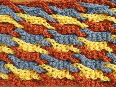 Single Weave and Link Stitch - Crochet Tutorial