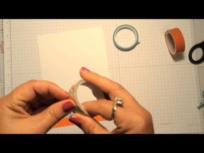 Stampin' Up! Video Tutorial  How to Use Washi Tape on Your Handmade Cards