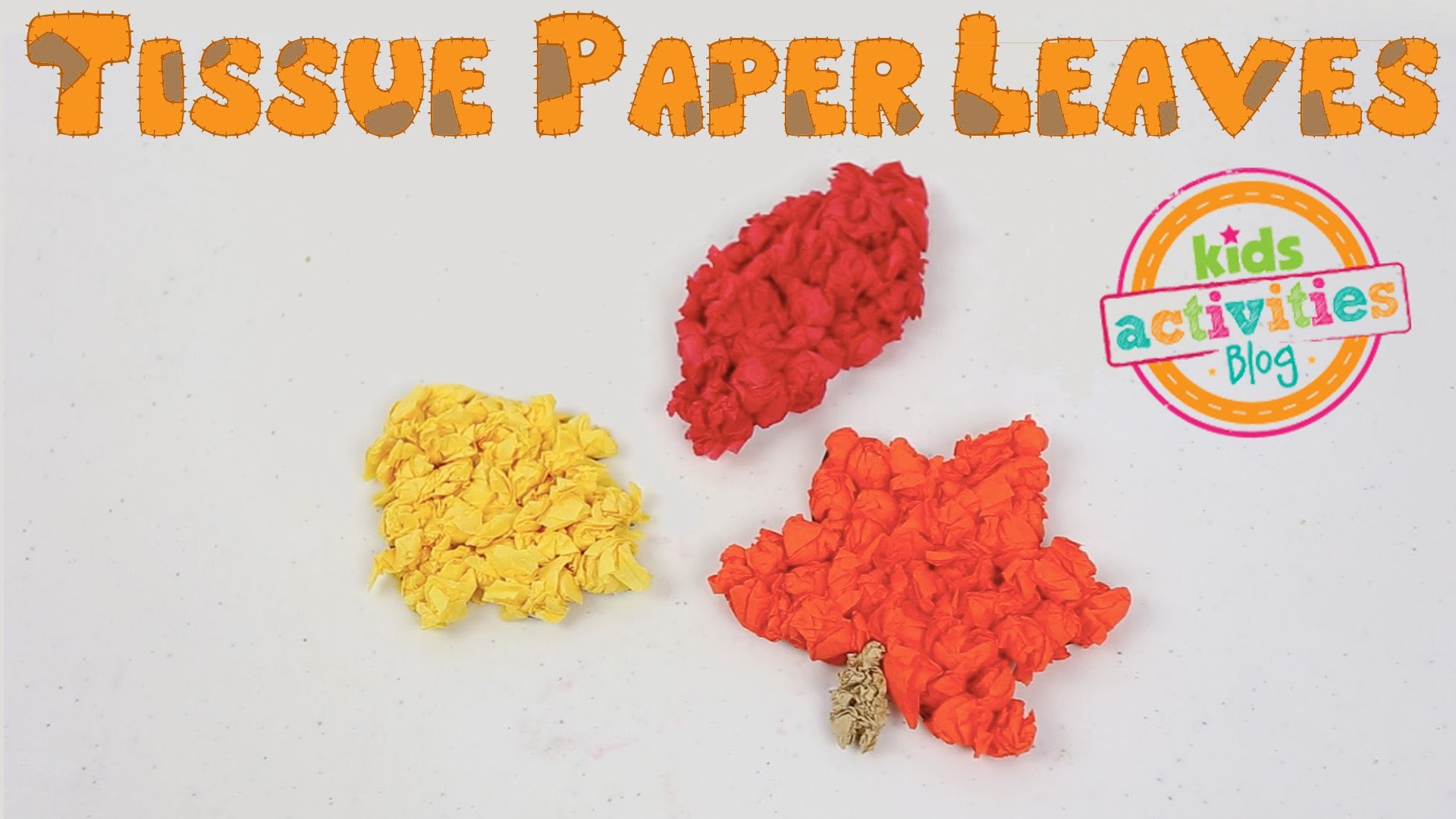 Tissue Paper Leaves Craft for Fall