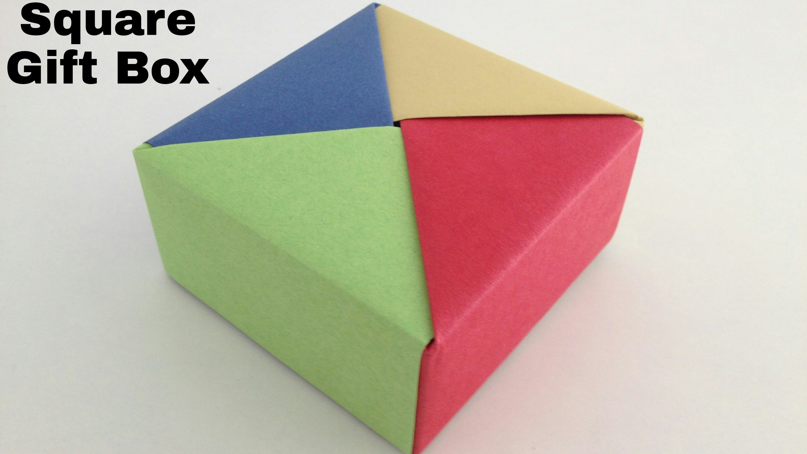 "Useful Modular Origami - Paper ""Square Gift Box"""