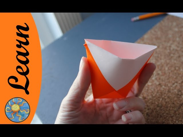 Activities for kids: make a origami cup