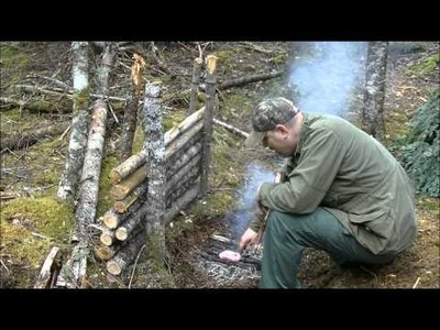 Cooking meat directly on the coals ,Good survival skill