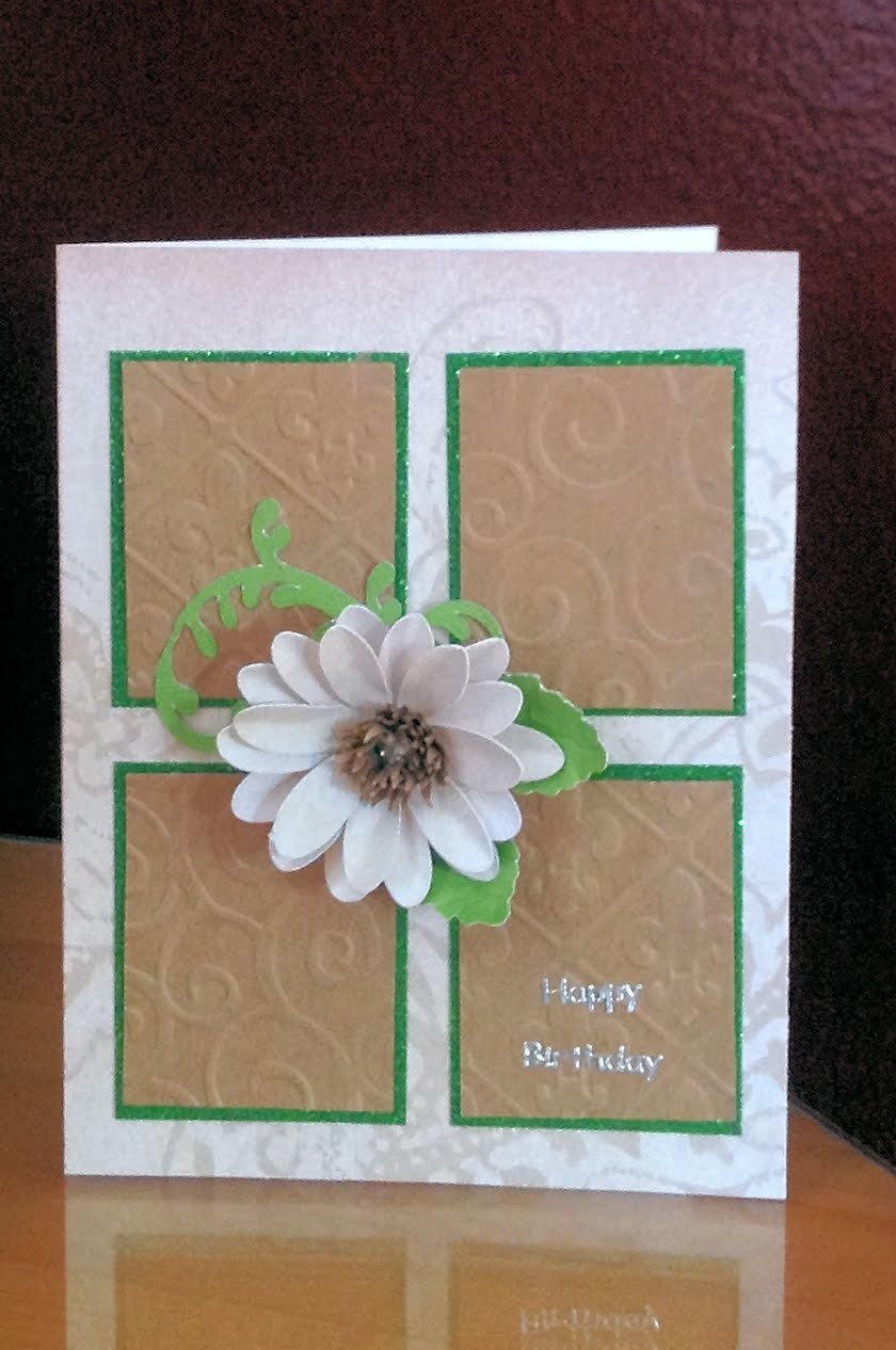 Delightful Daisy Handmade Birthday Card