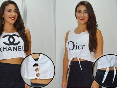 ✂ DIY | 2 modelos de Top Cropped