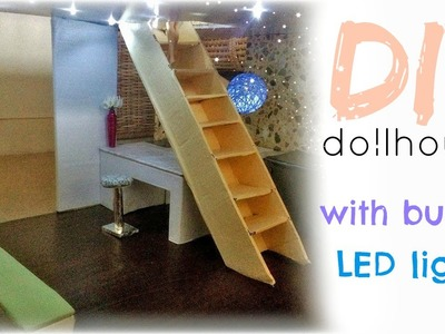 DIY: barbie dollhouse with built in LED lights