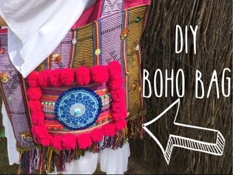 DIY - Boho inspired tote bag from old scarf