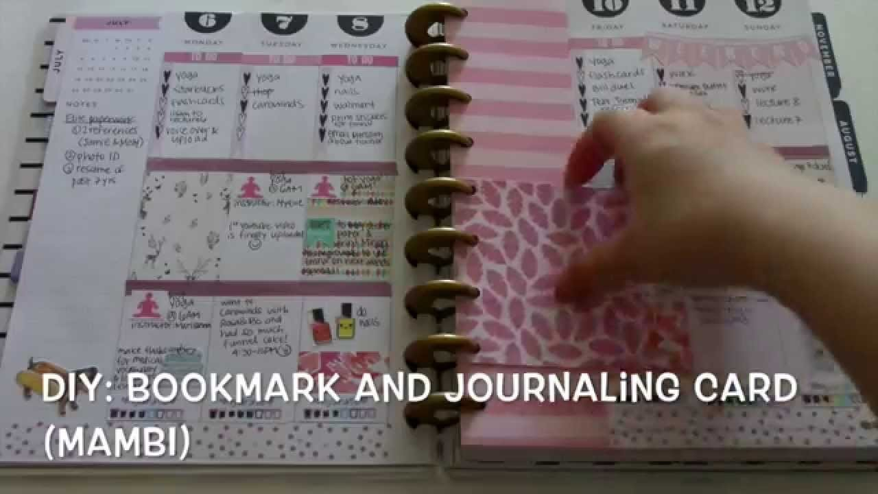 DIY: Bookmark and Journaling Card for Planner (MAMBI Happy Planner)