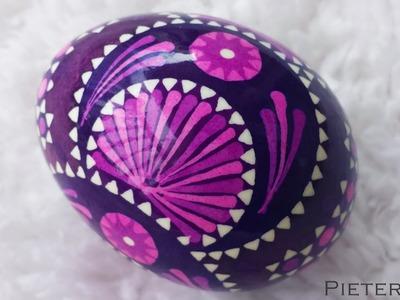 DIY Egg Art Tutorial - Sorbian Eggs - by Egg Artist Pieter Dijk (German Germany Feather Easter Wax)