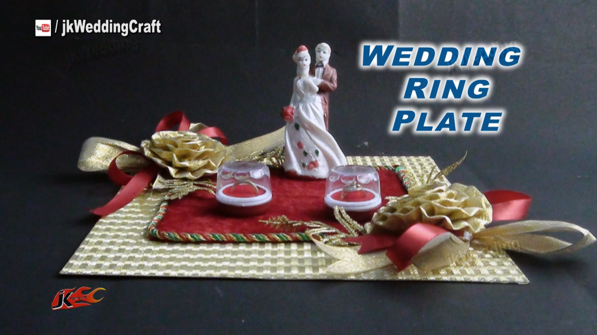 DIY Engagement. Wedding Ring Platter | How to make | JK Wedding Craft  036