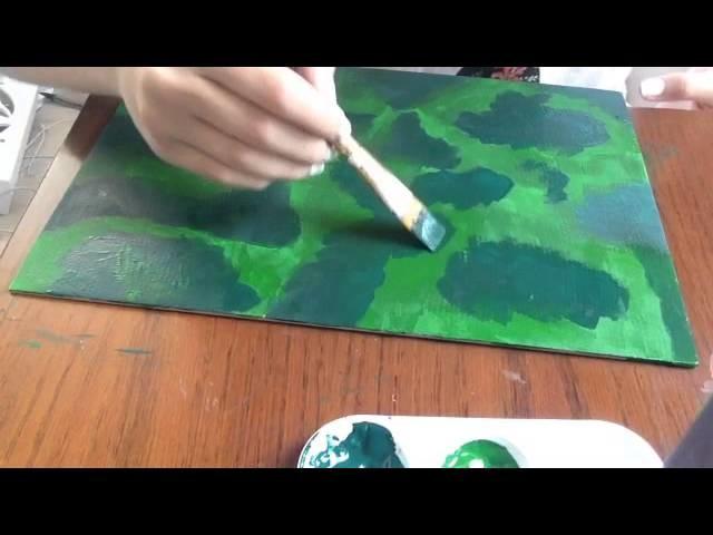 DIY: Herringbone canvas art