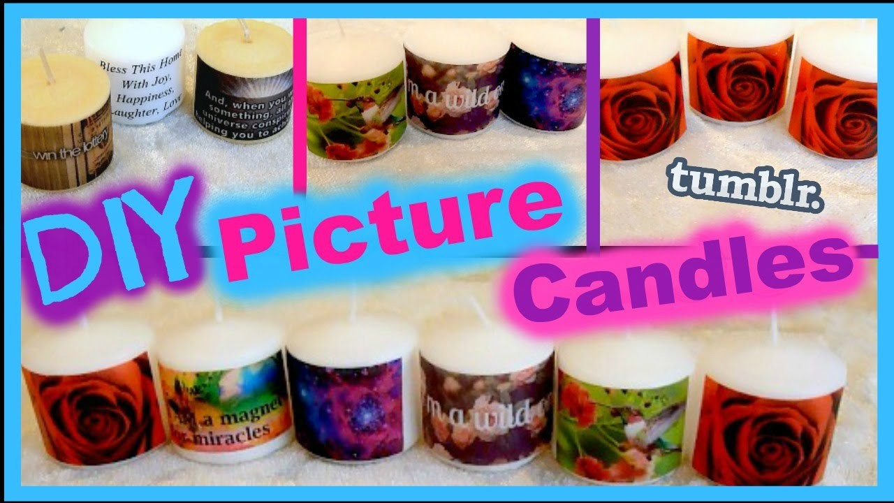 DIY Picture Candles │ Tumblr Inspired Candles│ Gift Idea!
