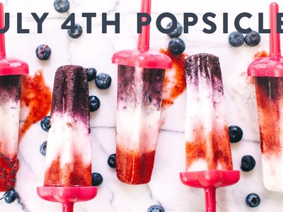 DIY Red White and Blue July 4th Popsicles - Honeysuckle