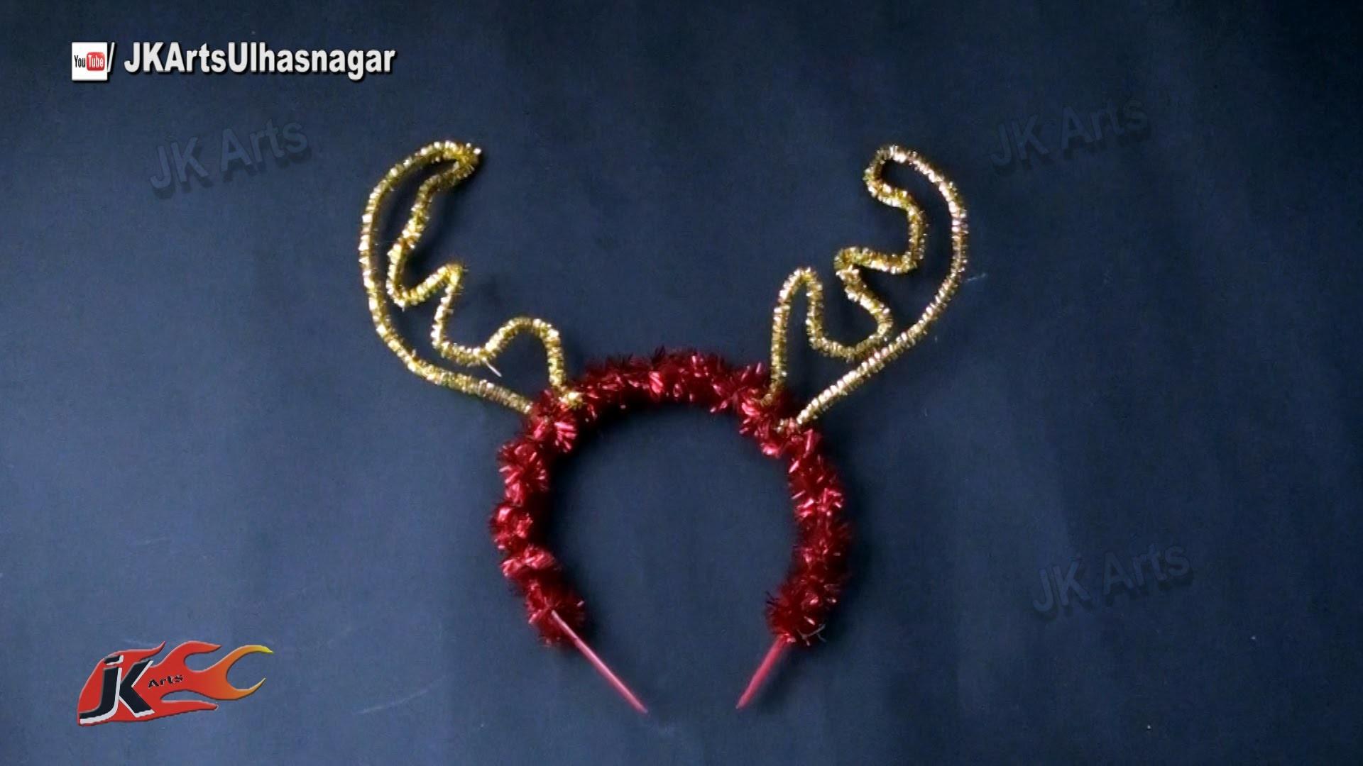 DIY Reindeer Antler Party Headbands for Christmas, New Year, Birthday | JK Arts 820