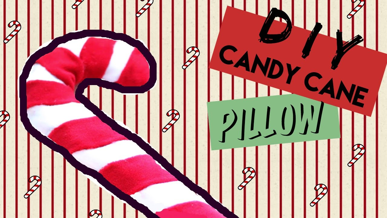 DIY Room Decor • Candy Cane No Sew • heartcindy