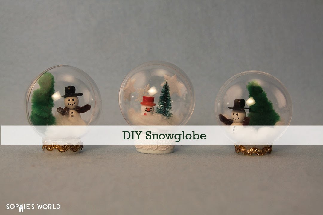 DIY Snowglobe|Sophie's World