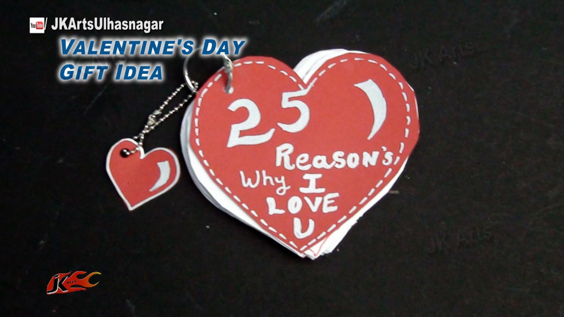 DIY Valentine's Day Gift Idea | Reasons why I love you book | JK Arts  858