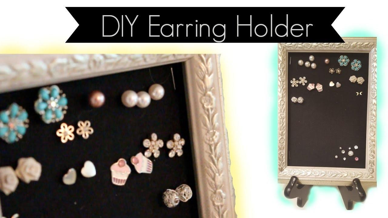 Easiest DIY Earring Holder