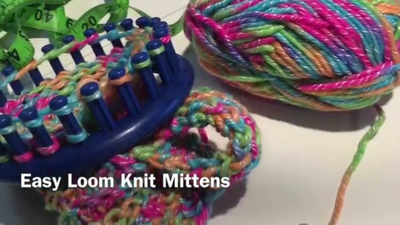 Easy Loom Knit Mittens