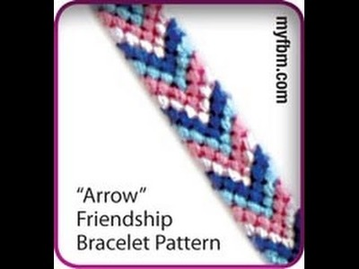 Friendship Bracelet Tutorial Arrow Pattern
