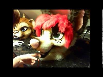 Fursuit Head Tutorial - Time Lapse - Part 8 - Airbrushing