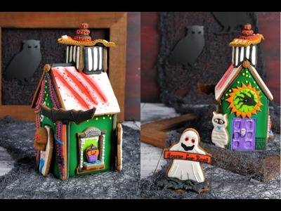 HAUNTED GINGERBREAD HOUSE FOR HALLOWEEN, HANIELA'S