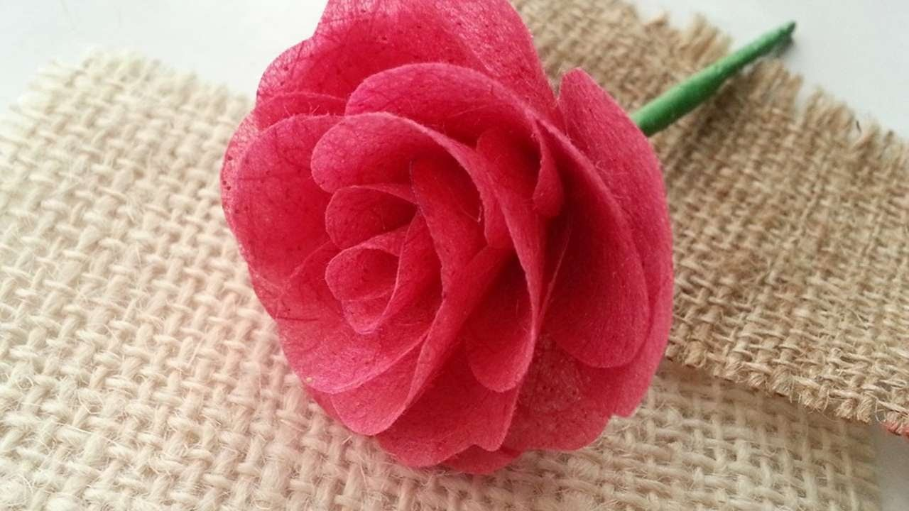 How To Create Mulberry Paper Rose - DIY Crafts Tutorial - Guidecentral