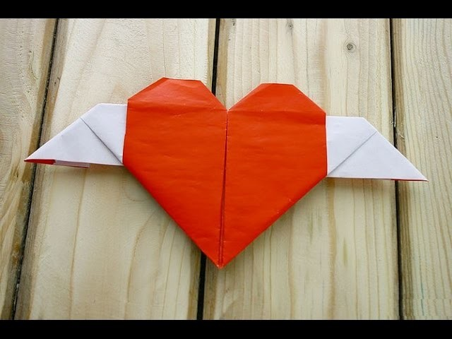 How to Fold a Heart with Wings - Origami Tutorial