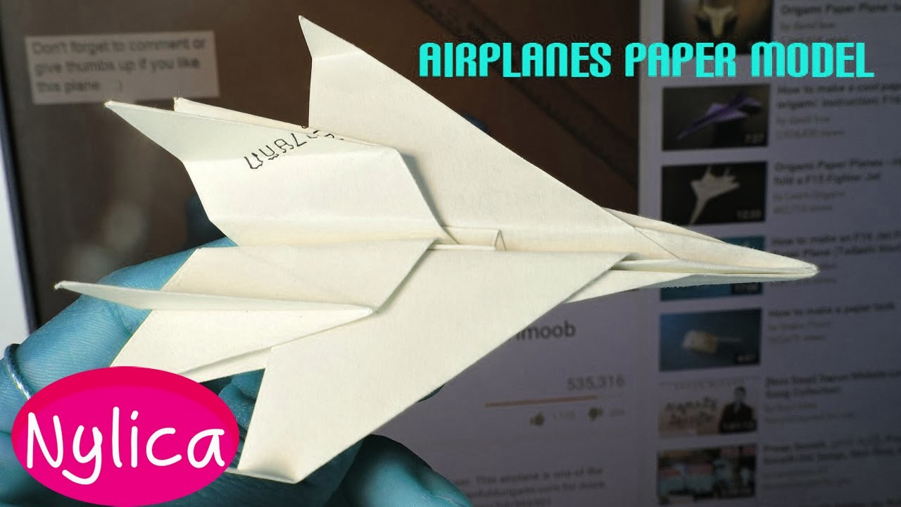 How to make airplane paper easy | paper airplanes for kids | origami airplane jet