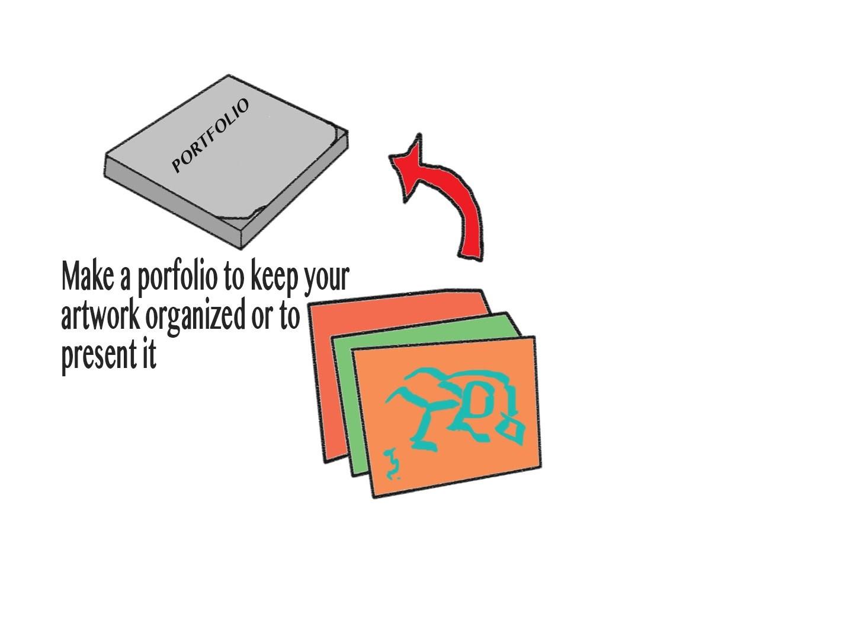 How to make an art porfolio.folder