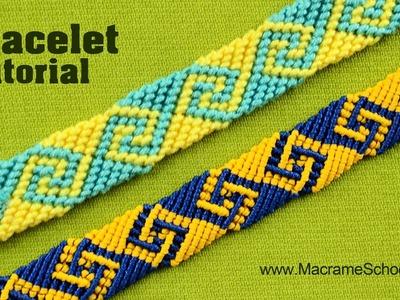 How to Make Greek Wave | Friendship Bracelet