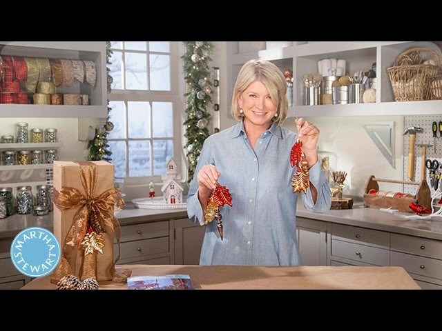 How to Make Homemade Gift Wrapping Garnishes - Martha Stewart