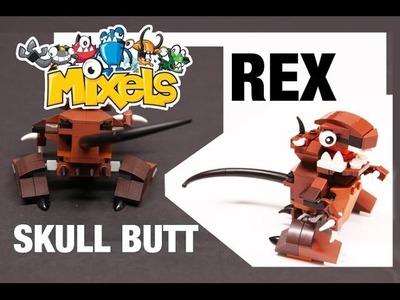 LEGO® Custom MIXELS Design - SKULL BUTT REX #REMIXEL Tutorial - Series 2 Fang Gang