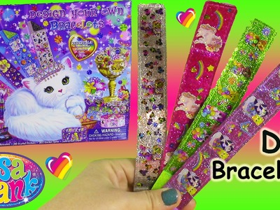 Lisa Frank Design Your Own Bracelets Kit! DIY Reversible Braclets with Stickers and Gems! FUN