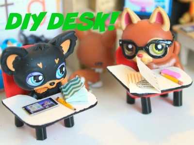 LPS DIY How to make a miniature school desk