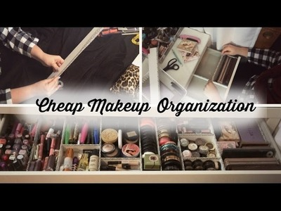 Makeup Organization for Under $5 | DIY