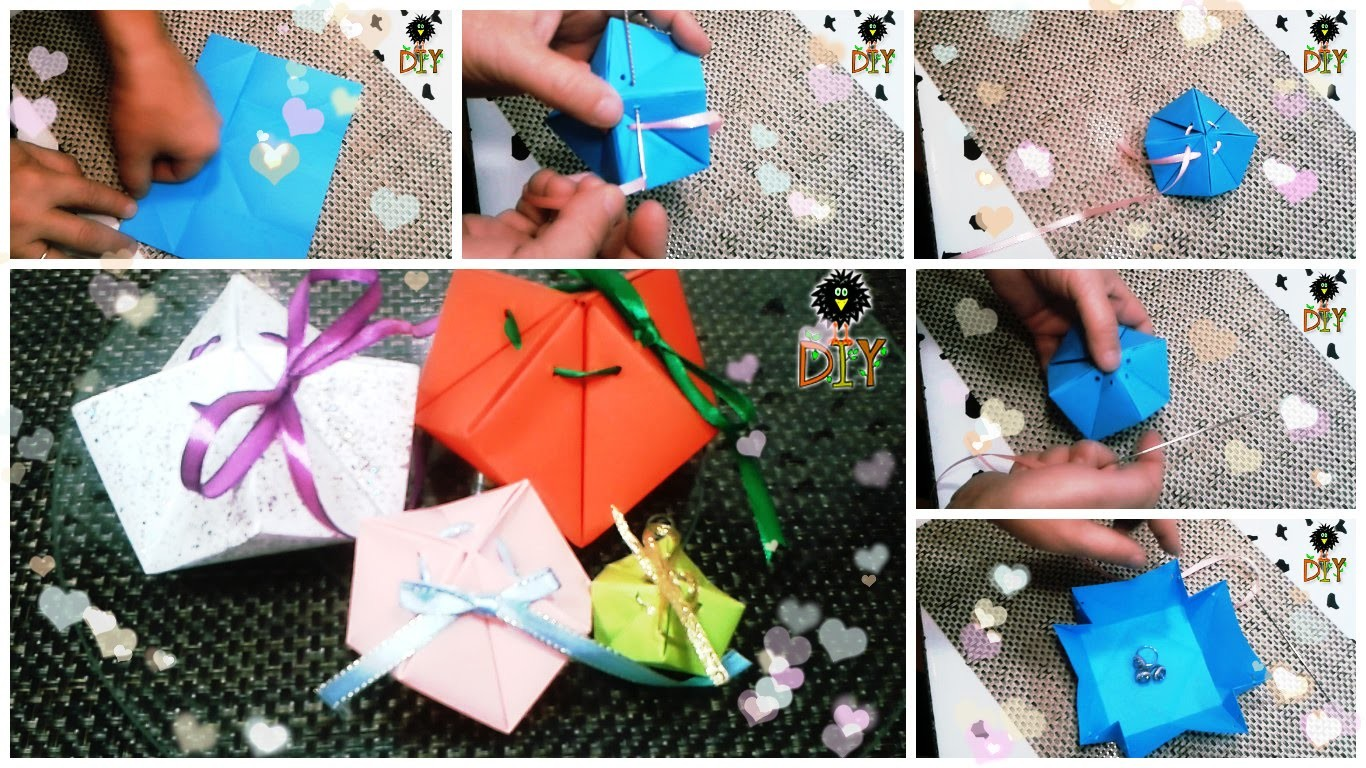 Origami Boxes For Packaging Gifts Tutorial - DIY Packaging