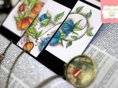 Prisma Watercolour Pencils and Heartfelt Creations Stamp  | Pretty Paper Studio