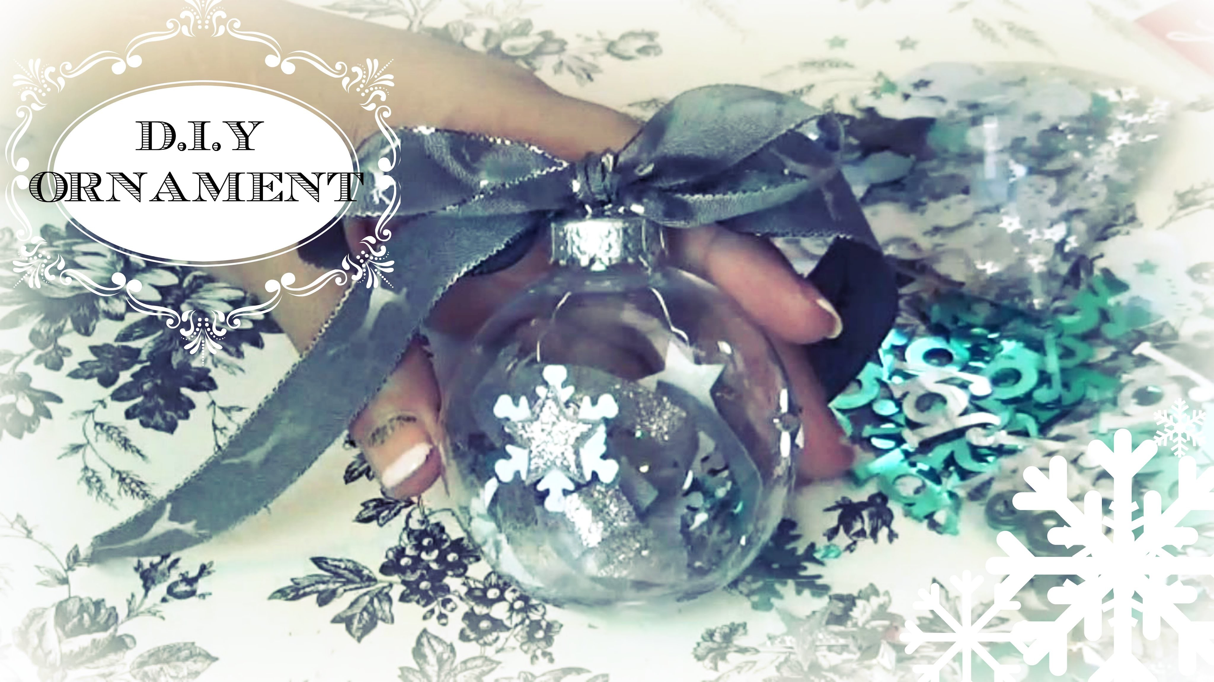 Silver Snow Christmas Ornament | DIY Crafts