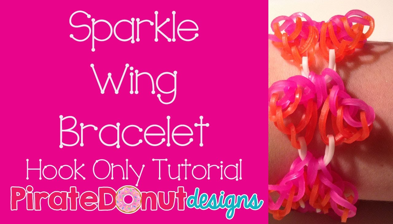 Sparkle Wing Bracelet No Loom Hook Only Tutorial