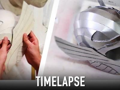 Timelapse - Making Thor Helmet (recap) | Costume Prop | How To | Dali DIY