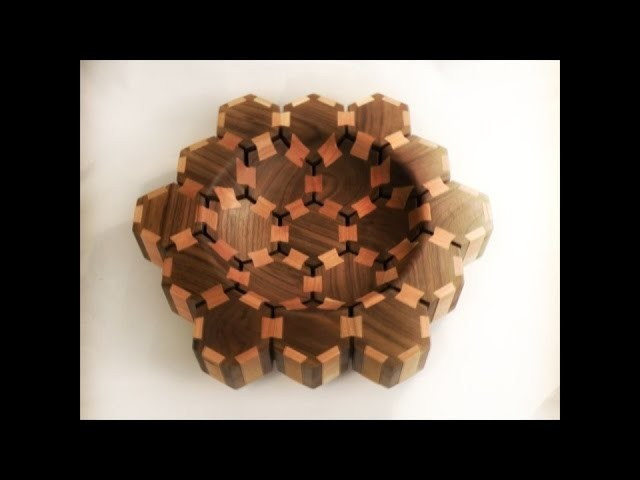 Woodturning - Butterfly hexagon bowl
