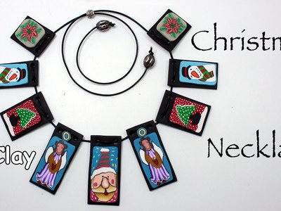 Christmas necklace  - Polymer clay tutorial