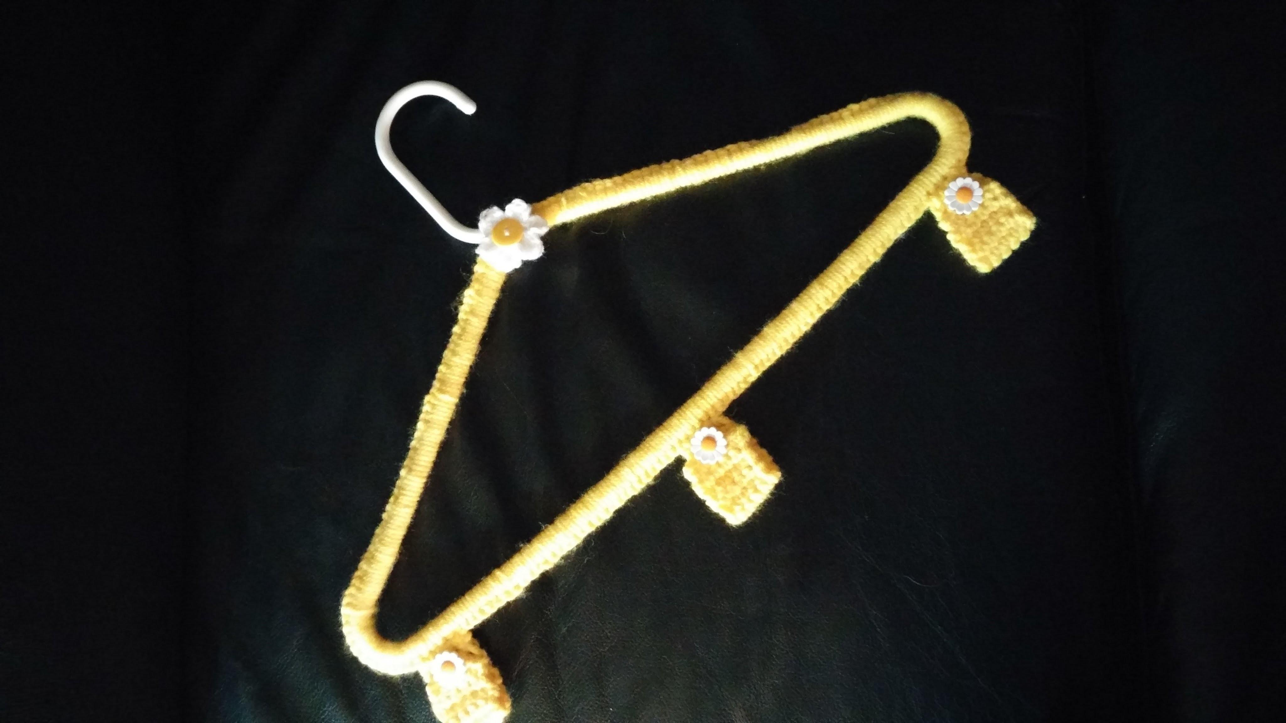 Crochet hanger cover DIY