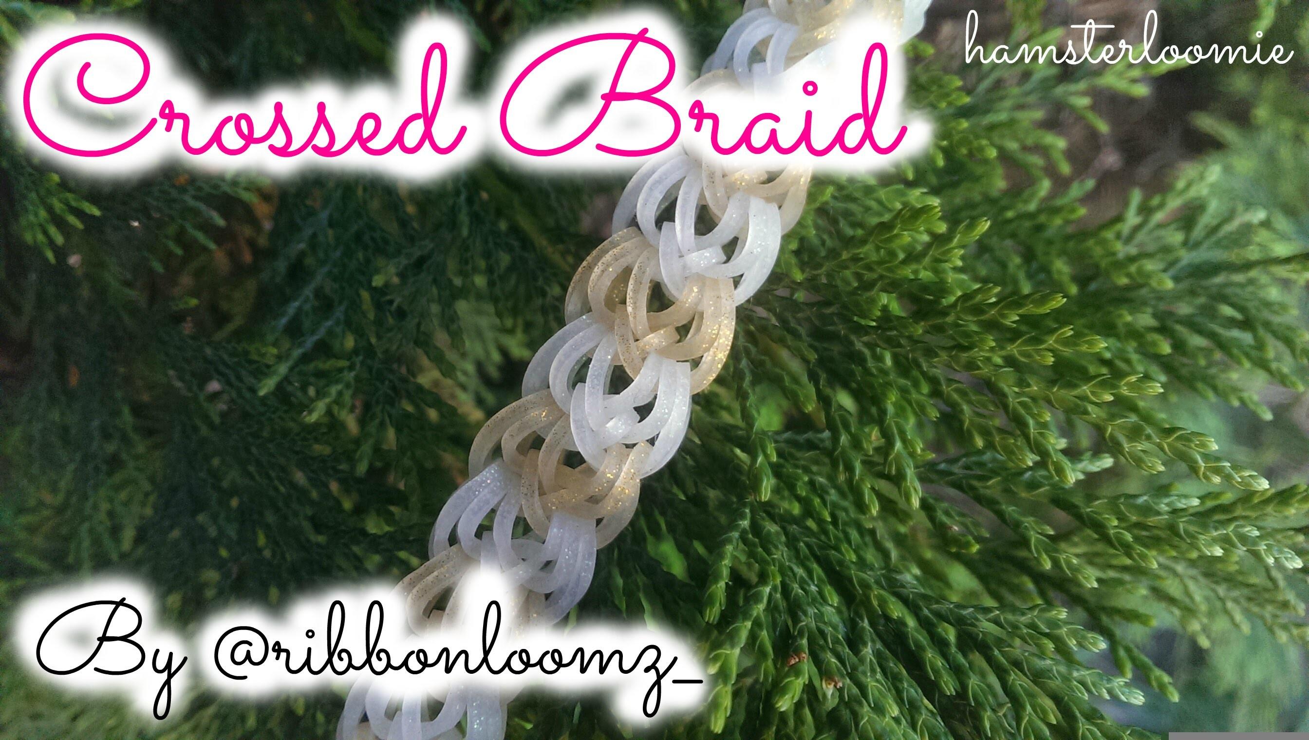 CROSSED BRAID bracelet tutorial || hook