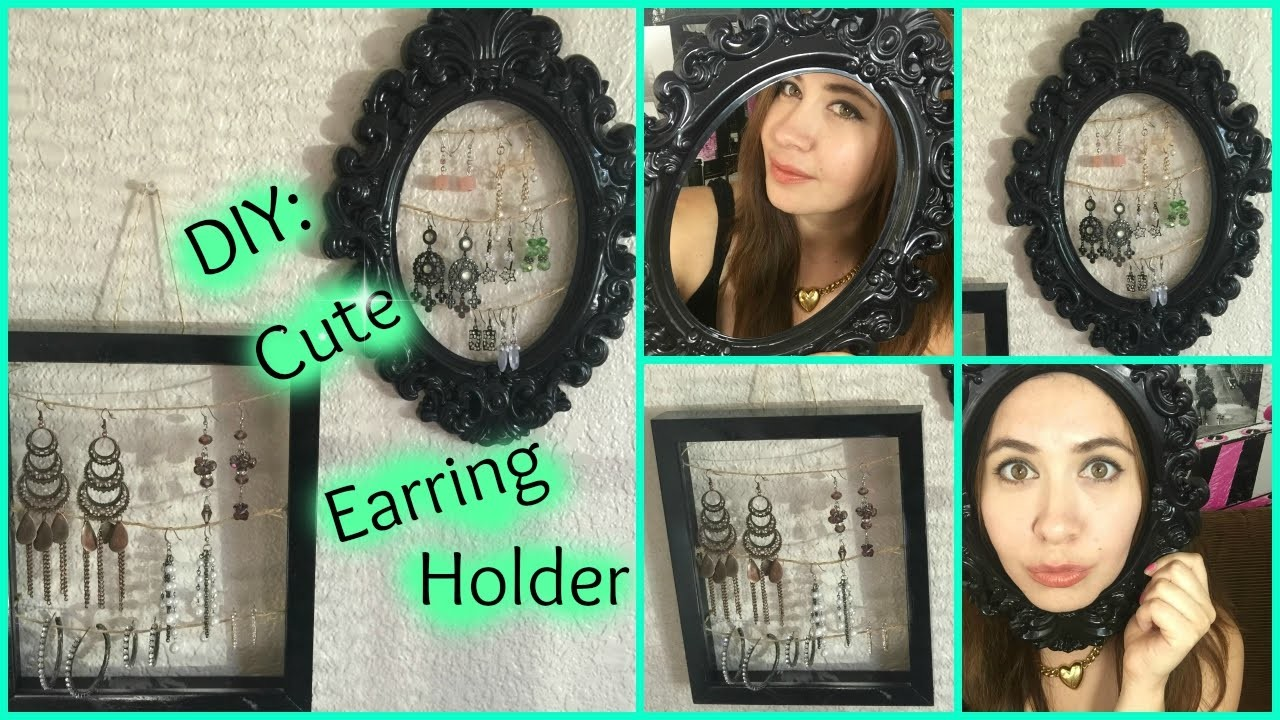*DIY* Cute Earring Holder ♥
