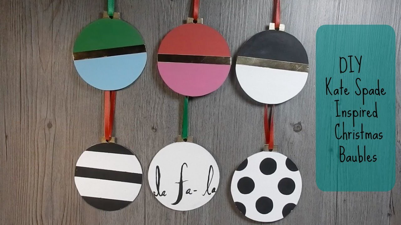 DIY Kate Spade Inspired Ornaments for Christmas from Cardboard Recycle