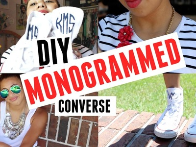 DIY Monogrammed Converse & How to Style || Kennedy Simone