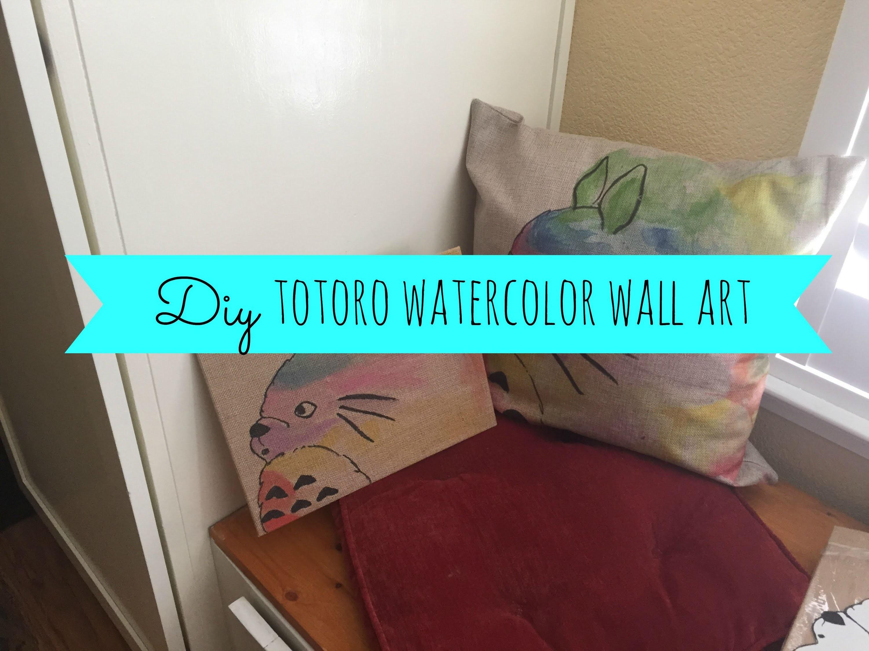 DIY Totoro Watercolor Wall Art