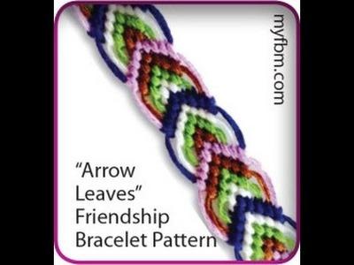 Friendship Bracelet Tutorial Arrow Leaves Pattern